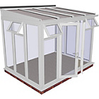 more details on Traditional Full Height Medium Lean to Conservatory - White.