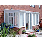 more details on Traditional Dwarf Wall Large Lean to Conservatory - White.