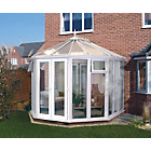 more details on Victorian Full Height Small Conservatory - White.