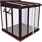 more details on Traditional Full Height Small Conservatory-Rosewood on White