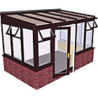 more details on Traditional Dwarf Wall Large Conservatory-Rosewood on White.