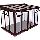more details on Traditional Full Height Large Conservatory-Rosewood on White