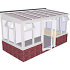 more details on Traditional Dwarf Wall Large Conservatory-White.