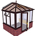 more details on Edwardian Dwarf Wall Small Conservatory-Rosewood on White.