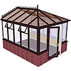 more details on Edwardian Dwarf Wall Large Conservatory-Rosewood on White.