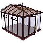 more details on Edwardian Full Height Large Conservatory-Rosewood on White.