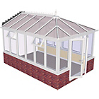 more details on Edwardian Dwarf Wall Extra Large Conservatory-White.