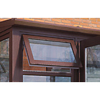 more details on Additional Conservatory Side Window - Rosewood on White.