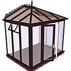 more details on Edwardian Full Height X Large Conservatory-Rosewood on White