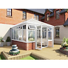 more details on Premium Edwardian Dwarf Wall Medium Conservatory - White.