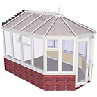 more details on Premium Victorian Dwarf Wall Medium Conservatory - White.