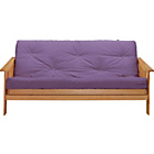 more details on Cuba Futon Sofa Bed with Mattress - Aubergine.