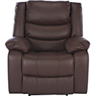 more details on Power Massage Leather Recliner Chair - Chocolate.