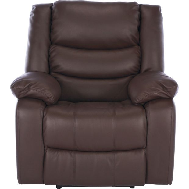 Buy Collection Power Massage Leather Recliner Chair