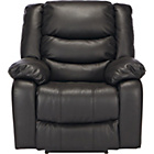 more details on Power Massage Leather Recliner Chair - Black.