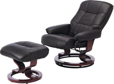 Buy Collection Santos Leather Eff Recline Chair Footstool