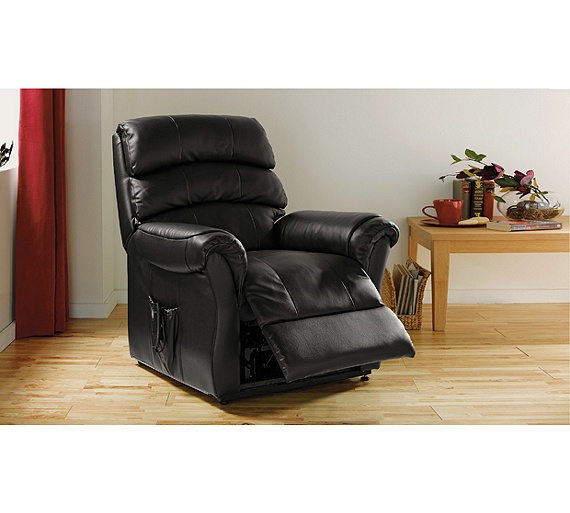Buy Home Warwick Powerlift Leather Recliner Chair Black
