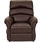 more details on HOME Warwick Powerlift Leather Recliner Chair - Chocolate.