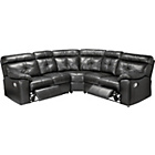 more details on Living Cameron Premium Leather Recliner Corner Sofa - Black.