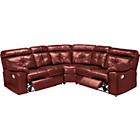 more details on Living Cameron Premium Leather Recliner Corner Sofa-Chestnut