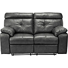 more details on Living Cameron Prem Leather Rec Reg Sofa -Black.