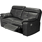 more details on Living Cameron Prem Leather Rec Large Sofa-Black