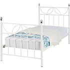 more details on Crystal Single Bed Frame - Ivory.