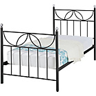 more details on Crystal Single Bed Frame - Black.