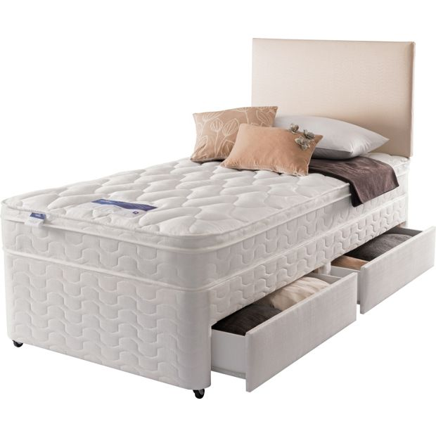 Buy Silentnight Auckland Luxury Single Divan Bed 2 Drw At Your Online Shop For
