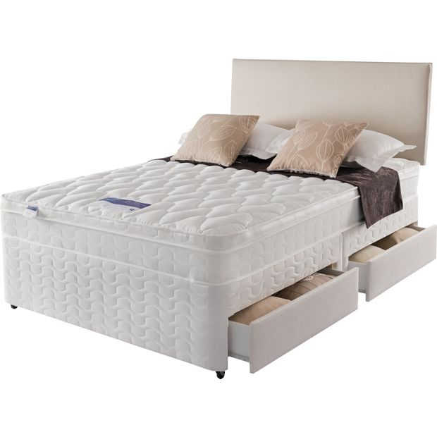 Buy silentnight auckland luxury small double divan bed 4 for Small double divan bed with headboard