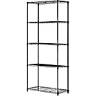 more details on 5 Tier Black Powder Coated Wire Shelving.