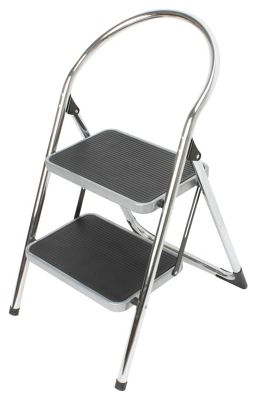 Buy 2 Step Chrome Ladder At Argos Co Uk Your Online Shop