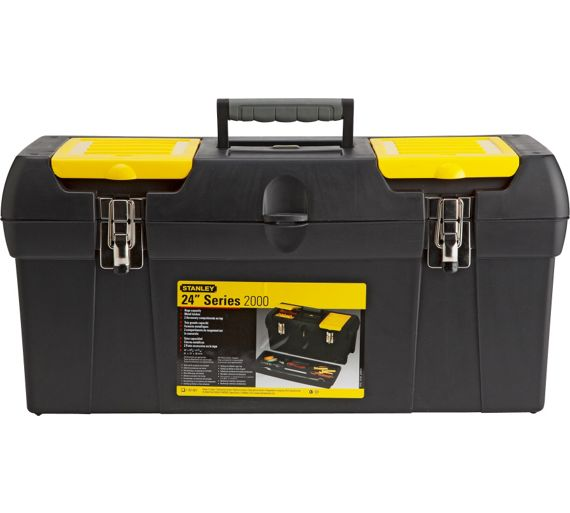 buy stanley 24 inch tote tray tool box at. Black Bedroom Furniture Sets. Home Design Ideas