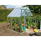 more details on Green Steel Greenhouse - 6 x 6ft.