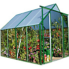more details on Green Steel Greenhouse - 6 x 8ft.