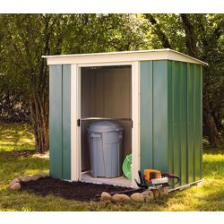 Arrow 6 x 4ft Pent Metal Garden Shed