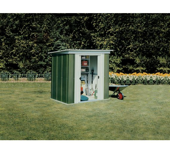 Buy Arrow Pent Metal Garden Shed