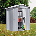 more details on Yardmaster Apex Deluxe Metal Garden Shed - 6 x 4ft.