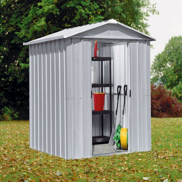 Buy yardmaster apex metal garden shed 6 x 4ft at your online - Abri de jardin entrepot du bricolage ...
