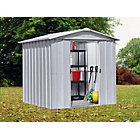 more details on Yardmaster Deluxe Metal Garden Shed - 6 x 7ft.