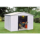 more details on Yardmaster Deluxe Metal Garden Shed - 10 x 8ft.