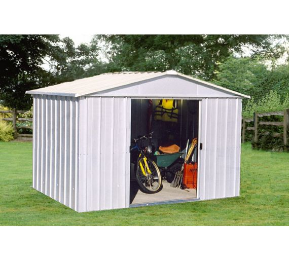 Buy Yardmaster Apex Metal Garden Shed