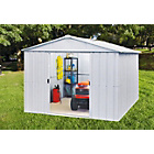 more details on Yardmaster Apex Deluxe Metal Garden Shed - 10 x 10 ft.