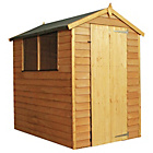 Mercia Overlap Apex Wooden Garden Shed - 6 x 4ft