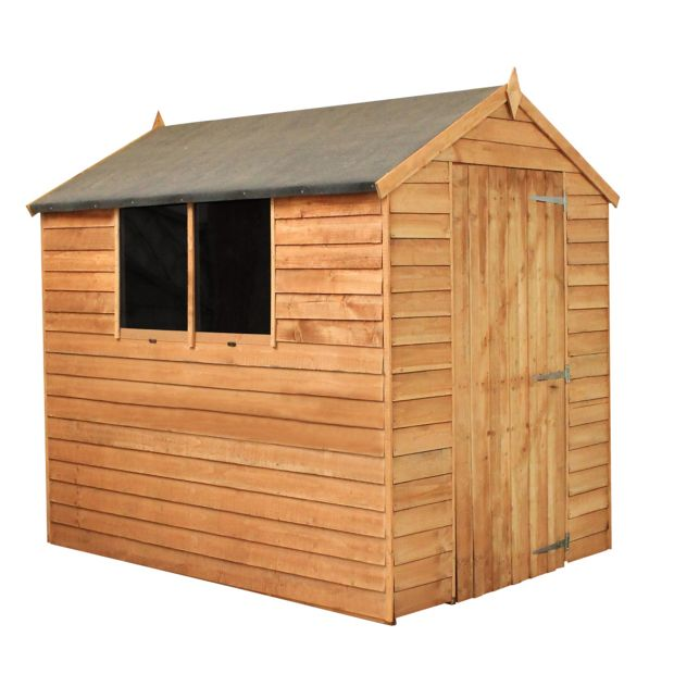Buy mercia overlap apex wooden garden shed 7 x 5ft at for Garden shed 7 x 3