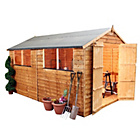 more details on Mercia Garden Overlap Apex Wooden Garden Shed - 10 x 8ft.