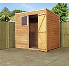 more details on Forest Garden Overlap Pent Wooden Garden Shed - 7 x 5ft.