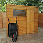 more details on Forest Garden Overlap Pent Wooden Garden Shed - 8 x 6ft.