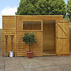 more details on Forest Garden Overlap Pent Wooden Garden Shed - 10 x 6ft.