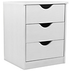 more details on Pagnell 3 Drawer Bedside Chest - White.